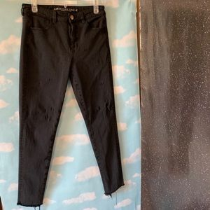 American Eagle- Black Hi-Rise Jeggings size 8
